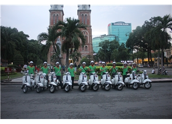 vespa tour hanoi - saigon vespa morning tour 4,5 hours