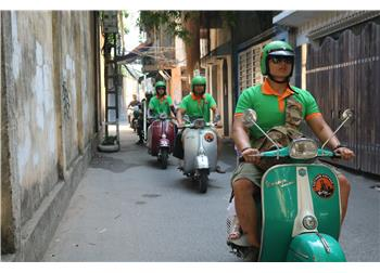 vespa tour hanoi - A GLIMPSE OF HANOI CITY 2,5 HOUR